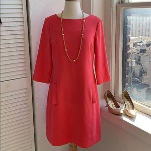 Eliza J shift dress in coral Sz 6